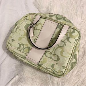 🛍3/30 COACH Toiletry Travel Bag Light Green